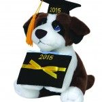Precious Moments Dated 2015 Graduation Dog Plush Cap, Small