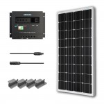 Renogy 100W Mono Starter Kit 100W Solar Panel 20 Solar Cable 30A PWM Charge Controller