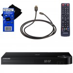 Samsung BD-H5900 Wi-Fi and 3D Blu-ray Disc Player with Remote Control + Xtech High-Speed HDMI Cable with Ethernet + HeroFiber Ultra Gentle Cleaning Cloth