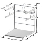 T-Shirt Bag Rack Chrome Freestanding Retail Store Display Fixture Lot of 2 NEW
