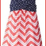 Bonnie Jean Big Girls' American Dot To Chevron Print Dress