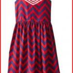 Bonnie Jean Big Girls' Chevron Striped Americana Dress