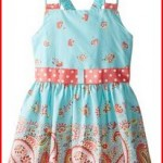 Bonnie Jean Big Girls' Dress with Paisley Border
