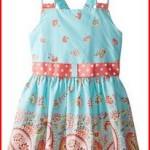 Bonnie Jean Big Girls' Dress with Paisley Border