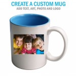 Create a Custom Lite Blue Inside Coffee Mug 11oz