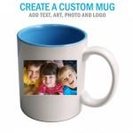 Create a Custom Lite Blue Inside Coffee Mug 11oz