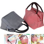 Lunch Bags, Danibos Large Solid Useful Linen Cotton Stripe 2pc Fashion Lunch Tote Bag Insulated Lunch Bag Grocery