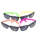 NEON 80's style PARTY SUNGLASSES with dark lens (12 pack)