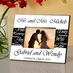 Personalized Gift - Mr. & Mrs. Bride  Groom Wedding Picture