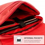Snugg Crossbody Shoulder Messenger Bag in Red Leather
