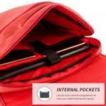 Snugg Crossbody Shoulder Messenger Bag in Red Leather