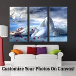Your Image Turn Into 3-Piece Gallery Wrapped Canvas Art Wall by Canvas Champ