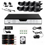 Zmodo PKD-DK0855-500GB 8-Channel DVR Security System with 8 CMOS IR Cameras,