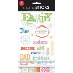 me & my BIG ideas Glitter Sticker Flip Value Pack, Family-You and Me