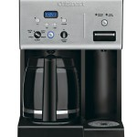 Cuisinart CHW-12 Coffee Plus 12-Cup Programmable Coffeemaker with Hot Water System, BlackStainless
