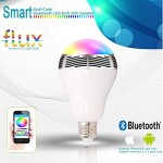 Flux™ Melody - Bluetooth Color Changing LED Light Bulb With Speaker - Smartphone Controlled Dimmable Smart LED Lights