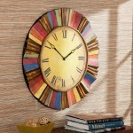 Holly And Martin WS1963 Multicolor Wall Clock, Multi Color