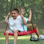 (Red) Tire Swing, Super Spinner FUN n SAFE, Tree Swing