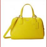 COACH Refined Grain Leather Mini Nolita Satchel Handbag Yellow
