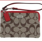 Coach Corner Zip Women's Signature Wristlet Wallet