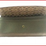 Coach Crossgrain Leather Soft Wallet 52689 Pewter