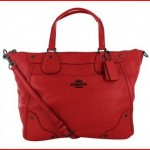 Coach Mickie Women's Leather Satchel Handbag Bag