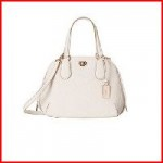 Coach Prince Street Mini Satchel in Signature Embossed Leather White 35452