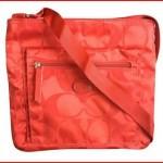 Coach Signature Nylon File Crossbody Bag Orange