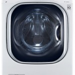 LG  4.3 Cu. Ft. White With Steam Cycle Electric Washer Dryer Combo