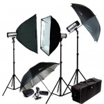 LimoStudio 900W (3X300W) Lighting Photography Studio Strobe Flash Light Kit, AGG403
