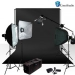 LimoStudio Photo Studio Four Monolight Strobe Flash BOOM Lighting Kit