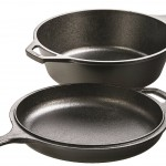 Lodge LCC3 Pre-Seasoned Cast-Iron Combo Cooker, 3-Quart