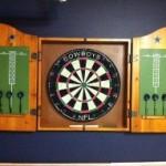 NFL Solid Pine Cabinet And Bristle Dartboard Set