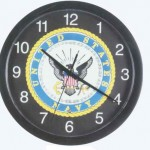 Patriotic Navy Musical Wall Clock
