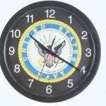 Patriotic Navy Musical Wall Clock