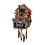 Train Cuckoo Clock Golden Spike by The Bradford Exchange