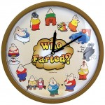 Who Farted Clock - Flatulence Sounds On The Hour Wall Art With Light Sensor