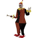6' Life-Size Animated Evil Halloween Clown Decoration, Lights up and Moves