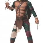 Rubies Teenage Mutant Ninja Turtles Deluxe Muscle-Chest Raphael Costume, Child Medium