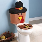 Thanksgiving Turkey Toilet Set with Gobble Sound, 3 Pc.