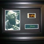 YODA STAR WARS Framed Movie Film Cell Display Compliments poster dvd book