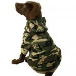Casual Canine Camo Pet Sweatshirt Hoodie - Green