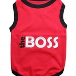 Pet Clothes THE BOSS Dog T-Shirt