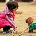 Electric leash dog plush toy dog