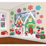 North Pole Christmas Scene Setters