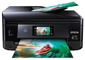 Epson Expression Premium XP 820 Wireless Color Photo Printer with Scanner Copier and Fax CD DVD