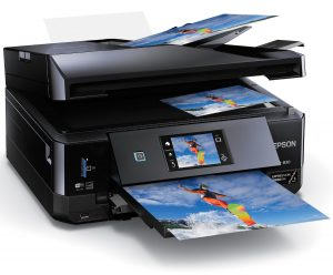 Epson XP 830 Wireless Color Photo Printer with Scanner Copier and Fax C11CE78201 CD DVD